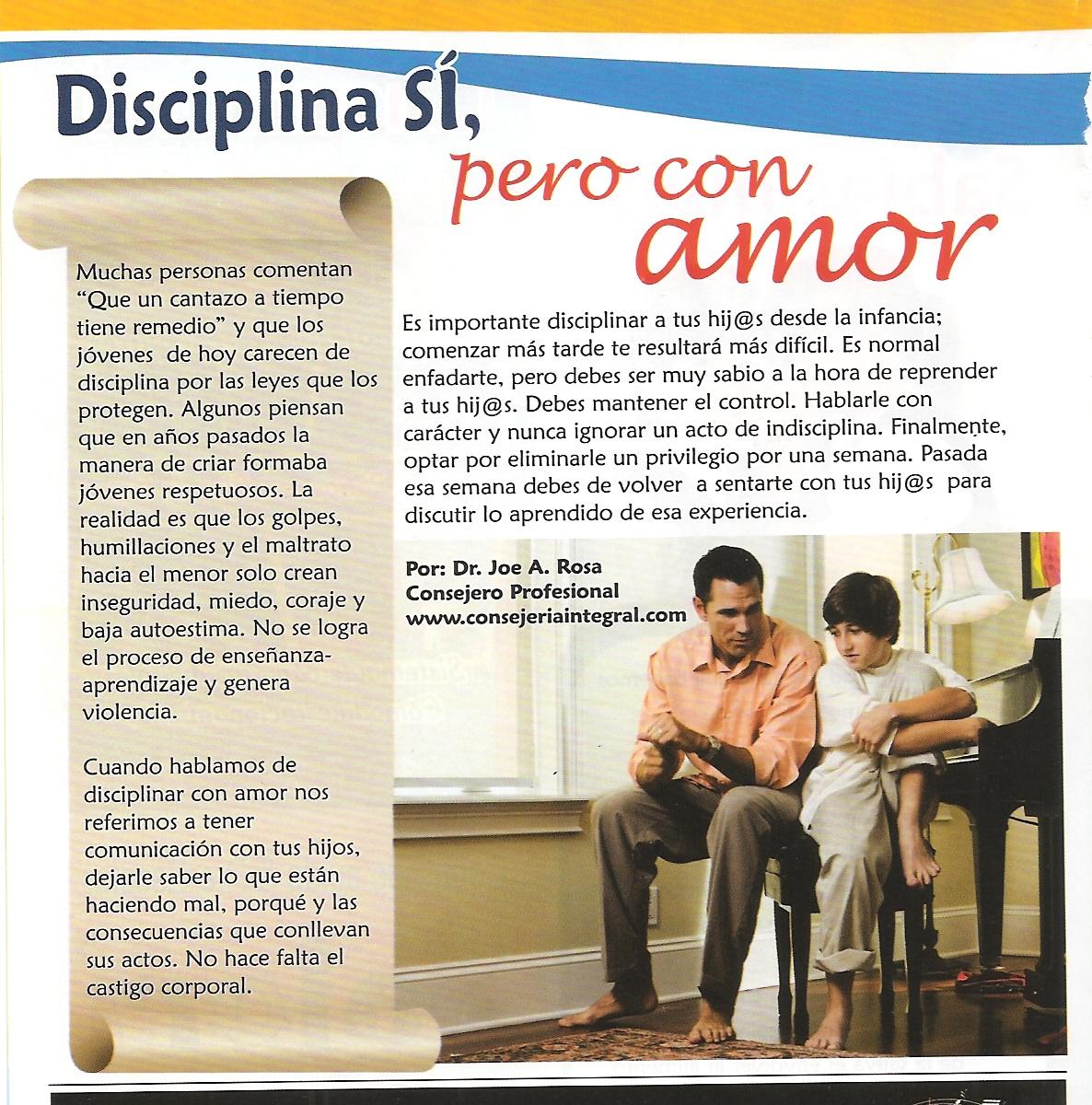 Disciplina si, pero con amor