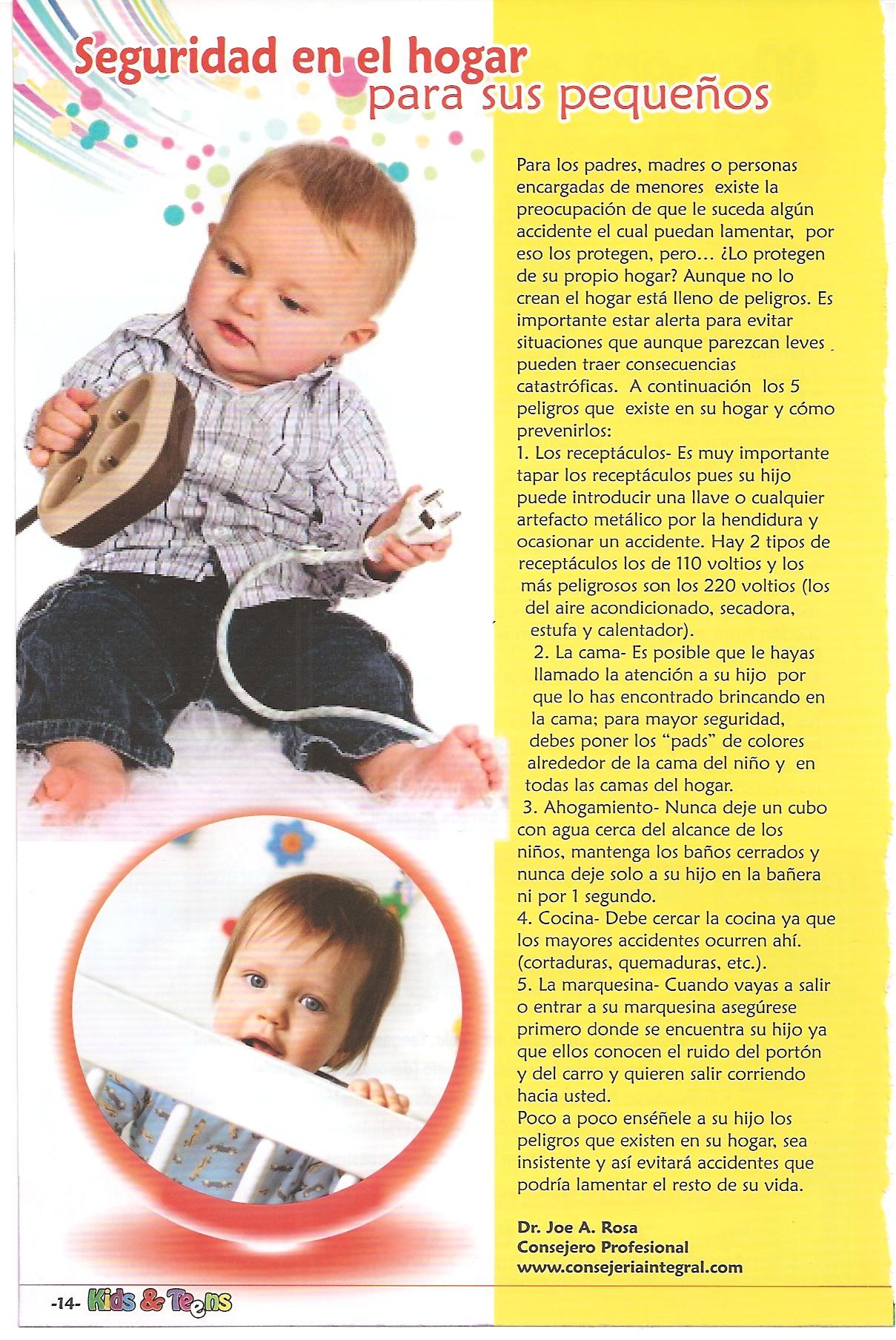 Seguridad en el hogar para tus pequeños